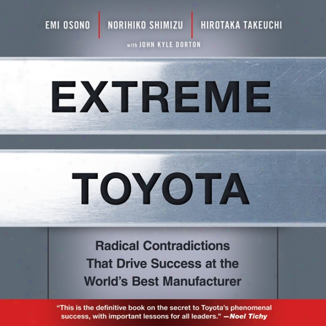Extreme Toyota: Original Contradictions That Drive Issue At The World's Best Manufqcturer (unabridged)