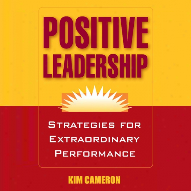 Positive Leadership: Strategies For xEtraordinary Performance (unabridged)