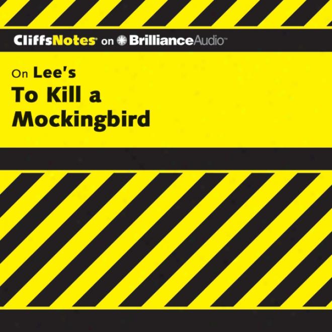 To Kill A Mockingbir:d Cliffsnotes (unabridged)