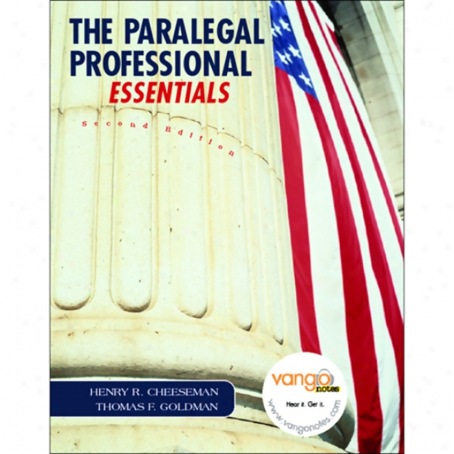 Vangonotes For The Paralegal Professional, Essentials, 2/e