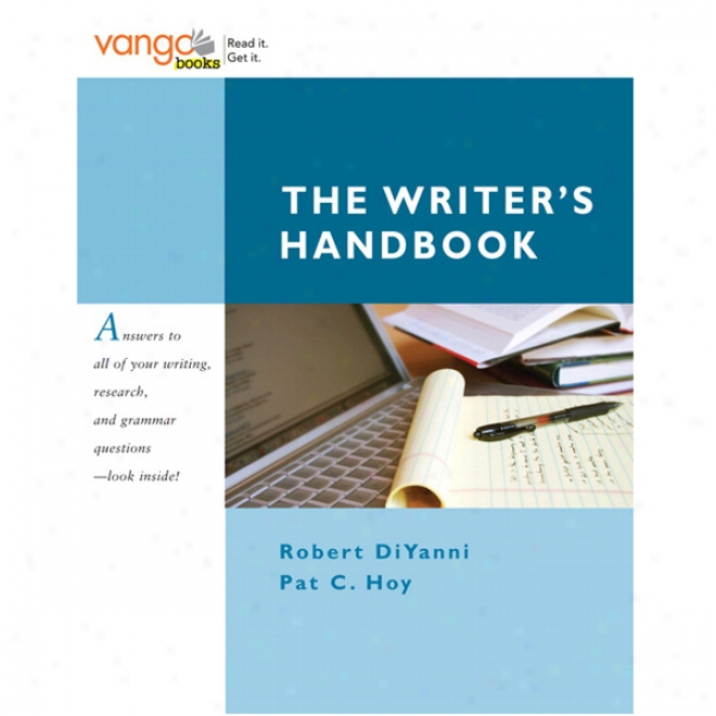 Vangonotes For The Writer's Handbook, 1/e
