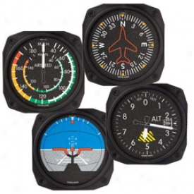 Aircraft Instruments Coasters Set Of 4