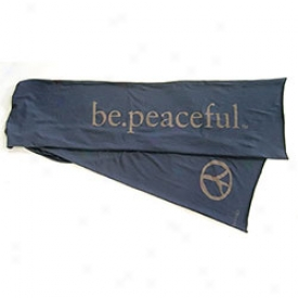 Be Peaceful Scarf Indigo