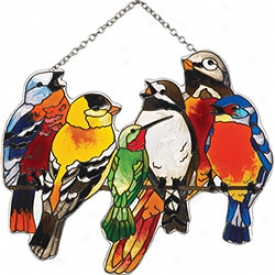 Birds On Wire Suncatcher