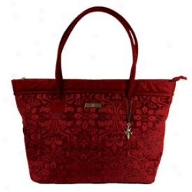 Burgundy Chenille Caroet Bag