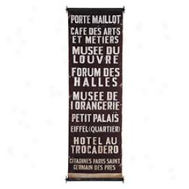 Bus Route Banners Paris