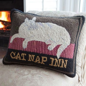 Cat Doze Inn Pillow