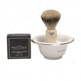 Edwin Jagger Brush, Dish And Soap Set