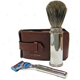 Edwin Jagger Premium Razor & Brush Travel Set