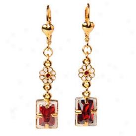 Elizwbethan Garnet Earrings