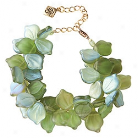 Glass Leaves Bracelet