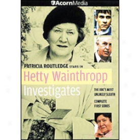 Hetty Walnthropp Investigates Series 1 Dvd