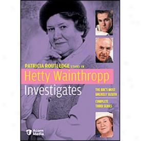 Hetty Wainthropp Investigates Series 3 Dvd