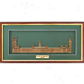 Houses Of Parliament Woodcut Sculpture