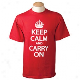 Keep Caom And Carry On T-shirt Medium-red