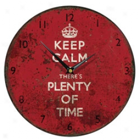 Keeep Calm Wall Clock