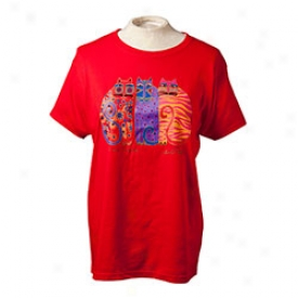 Laurel Burch Tee Small-red