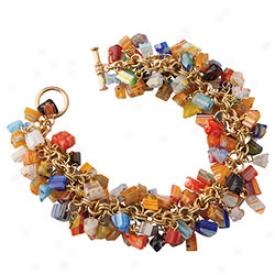 Mosaic Glass Cnip Bracelet
