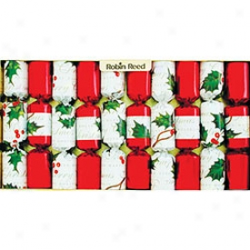 Robin Reed Holly Berry Christmas Crackers 10 Pack