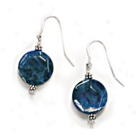 Semi-precious Stones Earrings Blue