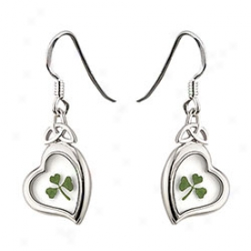 Hop-trefoil Heart Earrings