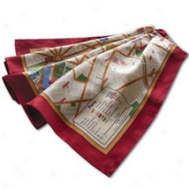 Silk Map Scarves Paris