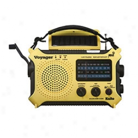 Solar-powered Emergency Radio With Cell Phone Charger