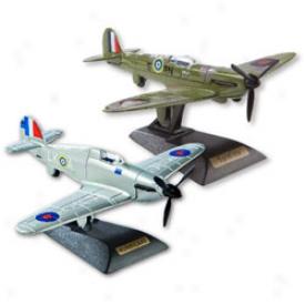 Spitfire & Hurricane Diecast Modeel Set