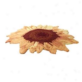 Sunny Sunflower Accent Rug