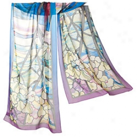 Tiffany Magnolias Oblong Scarf