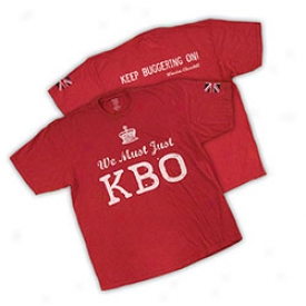 Winston Churchill We Must Just Kbo T-shirt Small-red