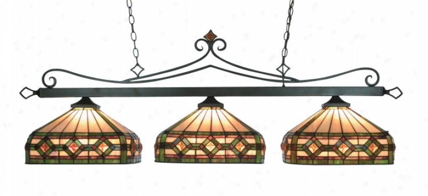 190-11-tb-t8 - Landmark Lighting - 190-11-tb-t8 > Billiard Lighting