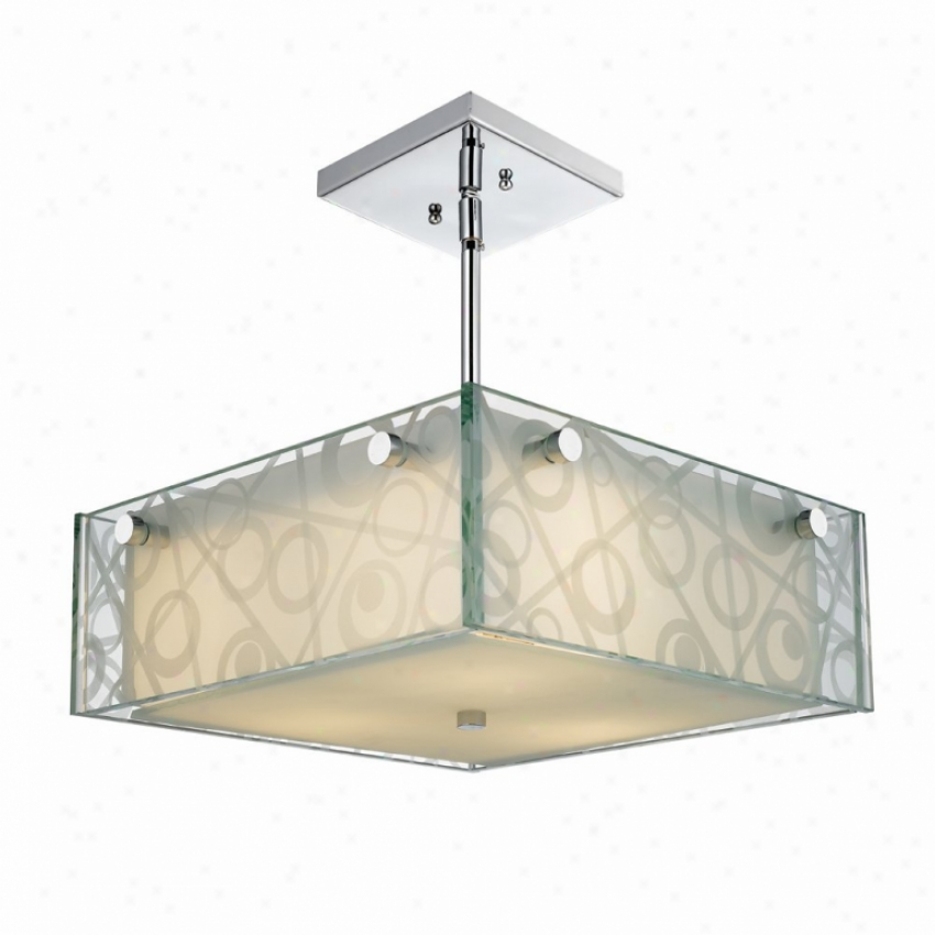 6013-sfm-cir - Golde nLighting - 6013-sfm-clr > Semi Flush Mount