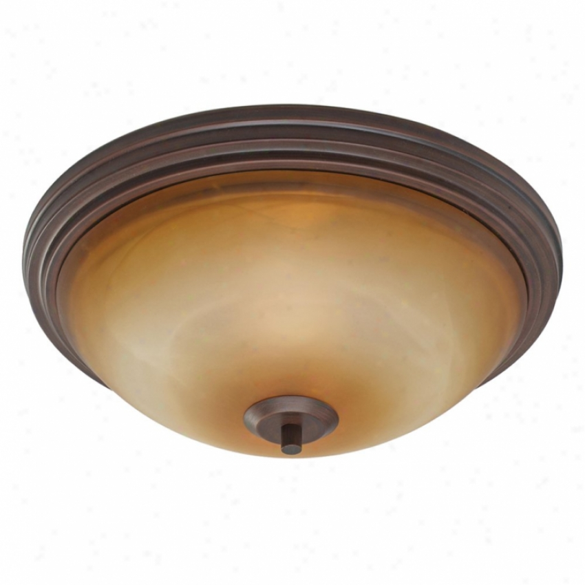 7158-fmrbz - Golden Lighting - 7158-fmrbz > Flush Mount