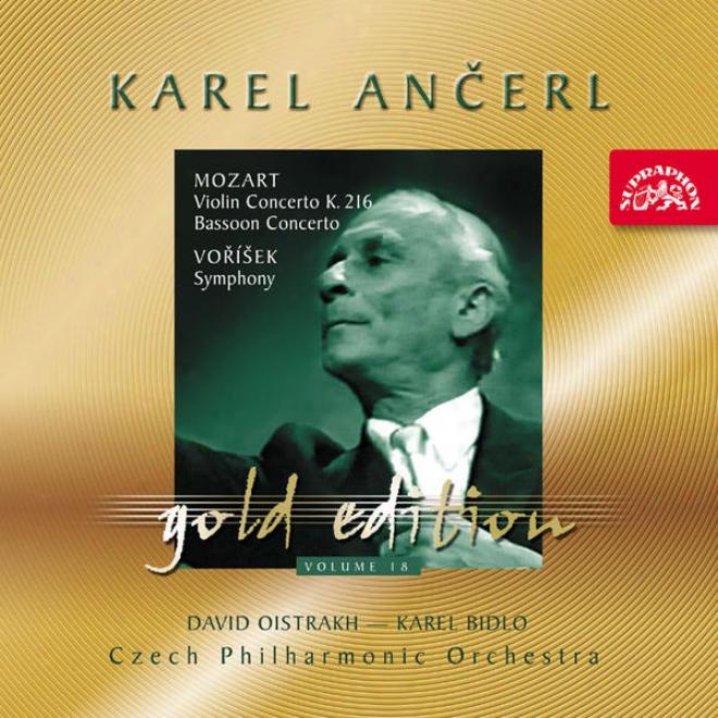 Ancerl Gold Edition 18 Mozart: Violin Concerto K 216, Bassoom Concerto, Vorisek: Symphony In D