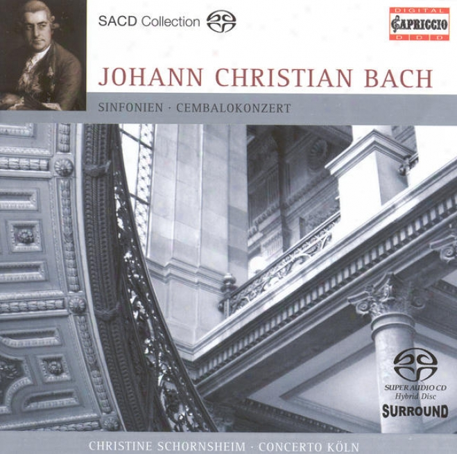 Bach, J.c.: Harpsichord Concerto In F Minor / Grand Overtuee (symphony) For Double Orchestra / Symphony In G Minor