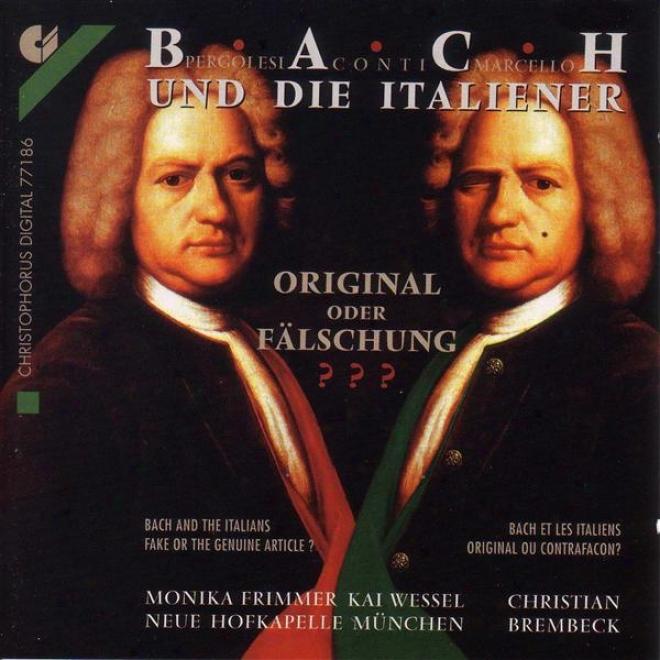 Bach, J.s.: Tilge Hochster, Meine Sunden / Keyboard Concerto, Bwv 974 / Languet Anima Mea (wessel, Frimmer, Munich Neue Hofkapell