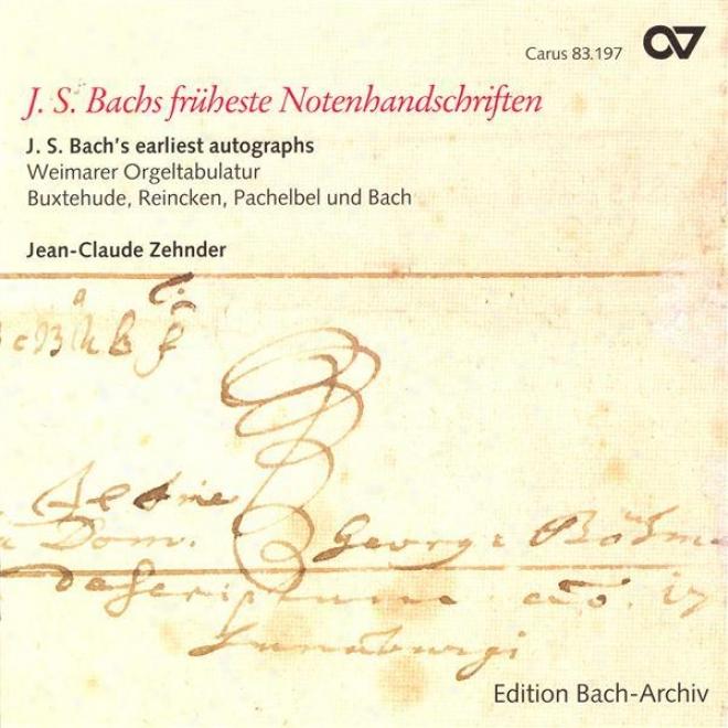 Bach, J.s.: Wie Schon Leuchttet Der Morgenetern (excerpt) / Wie Schon Leuchtet Der Morgenstern / Buxtehude: Nun Freut Euch (zehnder