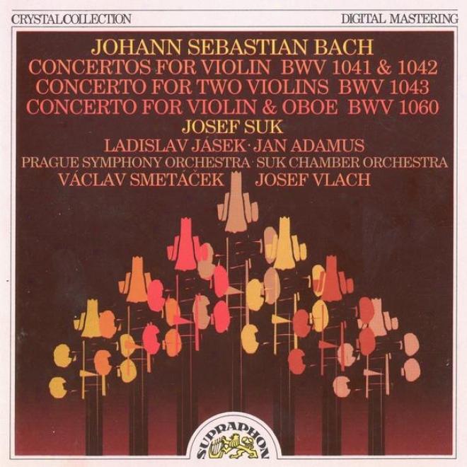 Bach : Violin And Oboe Concertos / Suk, Jasek, Adamus, Prague So, Smetacek, Suk Chamber Orchestra, Vlach