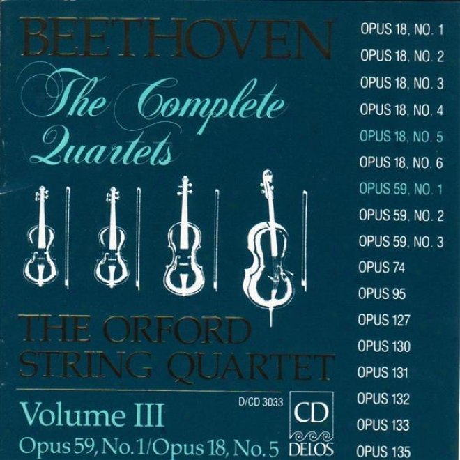 Beethoven, L.: String Quartets (complete), Vol. 3 - Nos. 5 And 7 (orford String Quattet)
