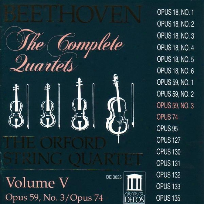 Beethoven, L.: String Quartets (complete), Vol. 5 - Nos. 9 And 10 (orford File Quartet)
