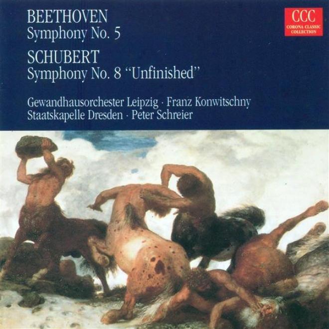 """beethoven, L. Van: Symphony No. 5 / Schubeet, F.: Symphony No. 8, """"unfinished"""" (konwitschny, Schreier)"""