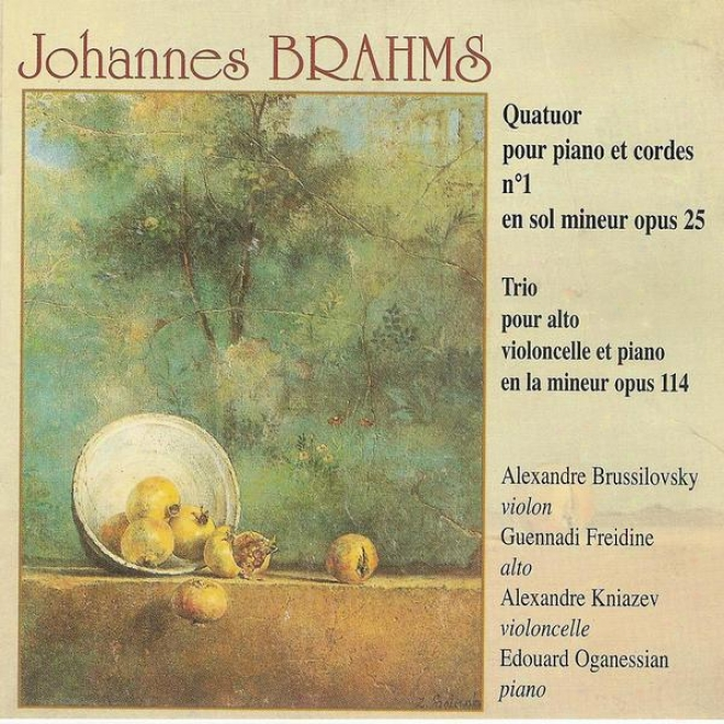 Brahms: Quatuor Pour Piano Et Cordes Not at all. 1 & Trio Flow Alto, Violoncelle Et Piano Opus 114
