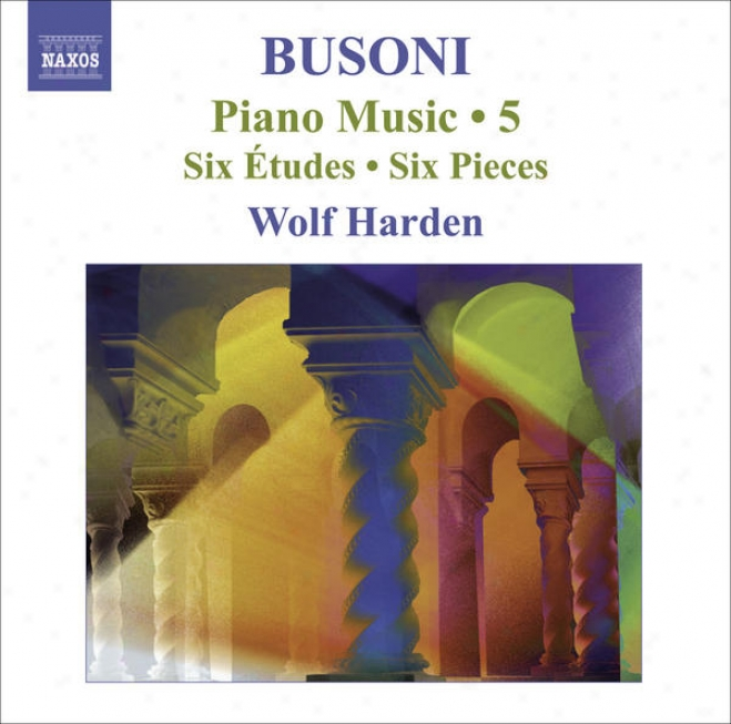 Busoni, F.: Piano Music, Vol.  5 (harden) - 6 Studies / 6 Pieces / 10 Variations On Chopin's C Minr Prelude