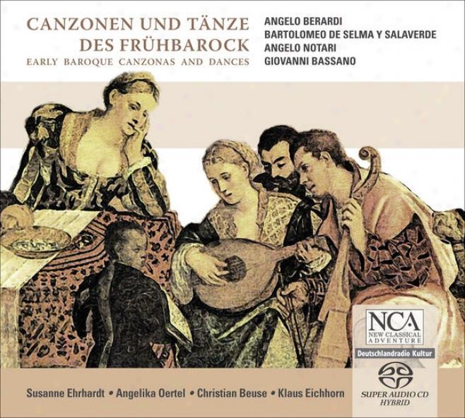 Chamber Melody (baroque) - Berardi, A. / Selma Y Salaverdd, B. De / Notari, A. / Bassano, G. (early Baroque Canzonas And Dances) (e