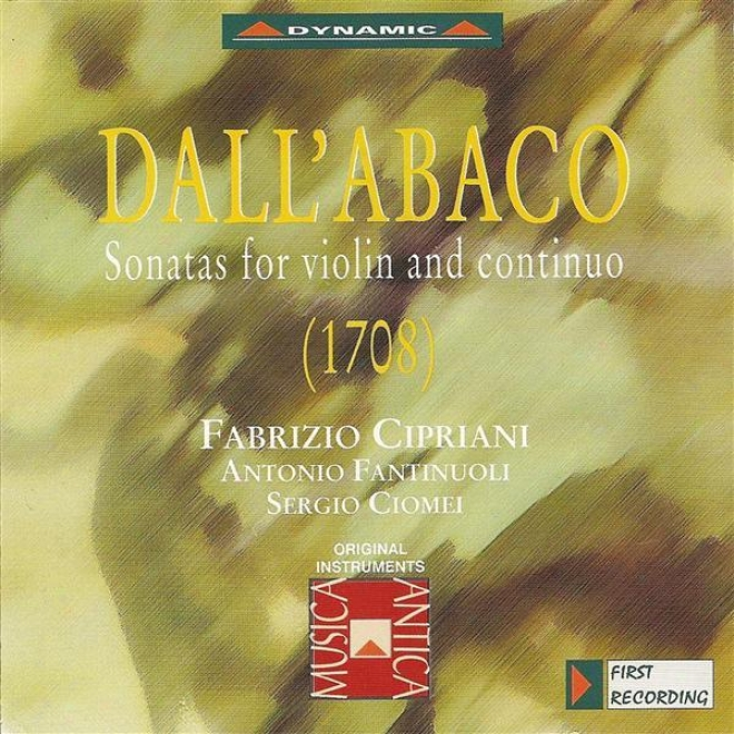 Dall'abaco: Violin Sonatas In D Major / D Minor / A Minor / G Minor / B Flat Major / B Minor