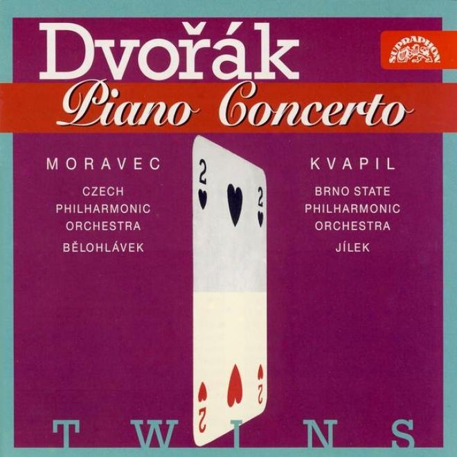 Dvorak: Piano Concerto In G Minor / Moravec, Czech Po, Belohlavek / Kvapil, Brno Po, Jilek