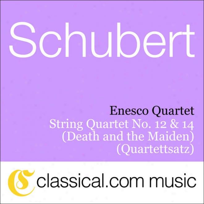 Franz Schubert, String Quartet No. 14 In D Minor, D. 810 (death And The Maiden)