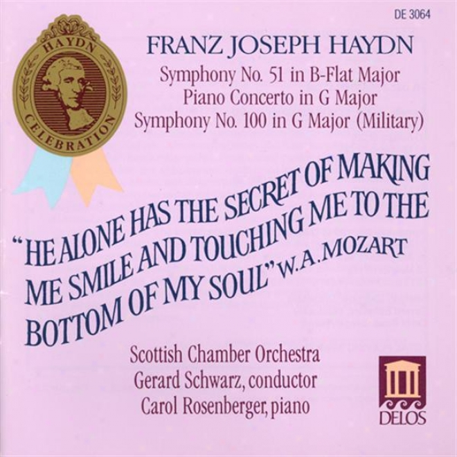 Haydn, J.: Symphony No. 51 And 100 / Keyboard Concerto In G Major, Hob.xviii:4 (rosenberger, Scottish Chamber Orchestra, Schwarz)