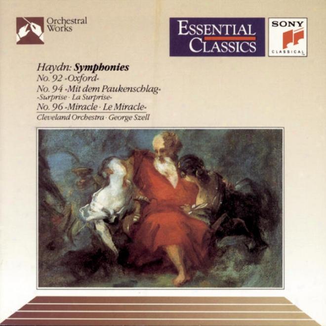 """haydn: Symphony No. 92 """"oxford"""", Consonance No. 94 """"surpriwe"""" &  Symphony No. 96 """"miracle"""
